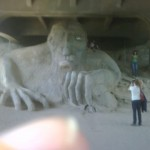 Troll under Fremont Bridge